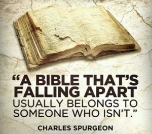 Bible that's falling apart