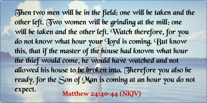 Matthew 24_40-44 - Twitter