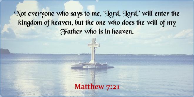 Matthew 7_21 - Twitter